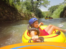 We went tubing down the river. It was real fun. We then swang from a rope from a tree into the water. , kelle r - August 2013