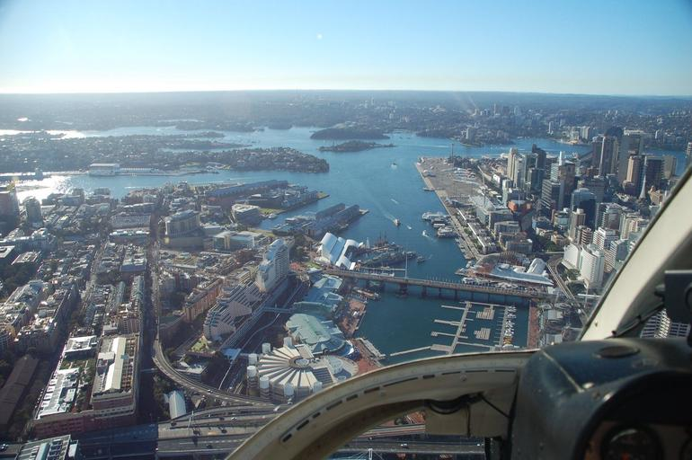 View from the cockpit - Sydney by helicopter - Sydney