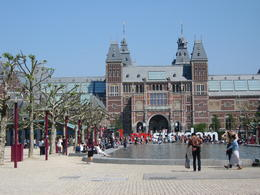 The Rijksmuseum was an easy walk from stop 5a on the hop on, hop off bus. Magnificent museum! We enjoyed a lovely lunch in the museum cafe, too. , Mary E - May 2014