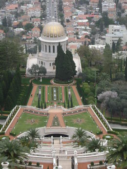 Standing at the top of the Baha'i Gardens in Haifa - this was a and quot;wow and quot; moment! , Heidi O - February 2012