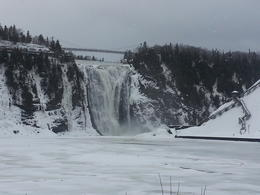 Photo of Quebec City Half-Day Trip to Montmorency Falls and Ste-Anne-de-Beaupré from Quebec la Chute de Montmorency