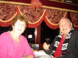 Photo of Melbourne Colonial Tramcar Restaurant Tour of Melbourne Les and judy celebrating her Birthday . FANTASTIC !!!