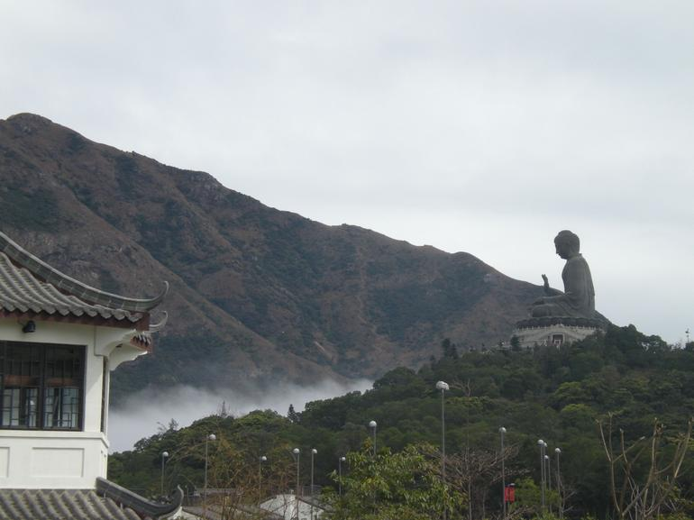 Looking back at Giant Buddha - Hong Kong