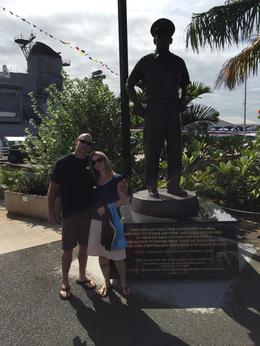 Ryan and Cindy Alexander celebrating his birthday at Pearl Harbour. , Cynthia J - November 2014