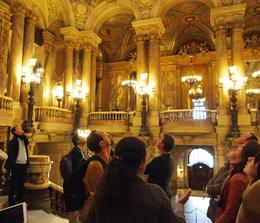 Photo of   Admiring the decor in Palais Garnier