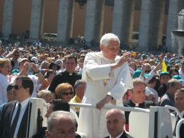 Photo of Rome Papal Audience Ticket at Vatican City Pope Benedict