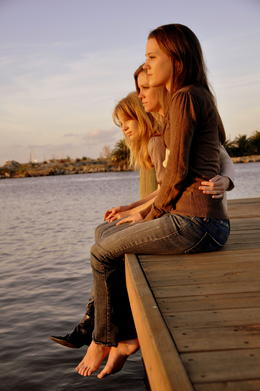 My Girls ~ Sitting on the dock of the bay wasting time watching the sun set on Clear Lake Shores, TX , speloqui - March 2011