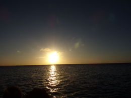 View of the Sunset from the catamaran. , Lillie E - December 2015