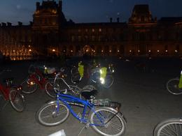 Our bikes outside La Louvre , Rebecca W - September 2012