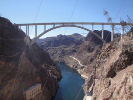 A view of the new bridge (opened 6/2010) from Hoover Dam. , Kevin F - February 2011