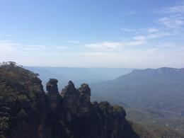 This is a picture of the three sisters rock formation, which is one of the main things to see at the Blue Mountains. , Karissa B - December 2014