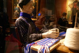 Traditional craft display in Volendam Museum , sueg - May 2014