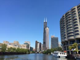 Photo of   Willis tower seen from the river boat