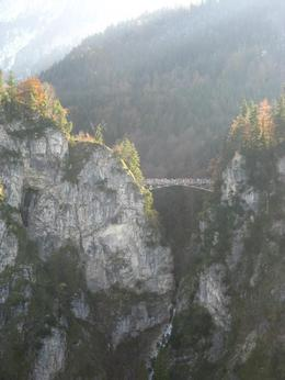 View of Marienbrucke from Neuschwanstein , KT - November 2011