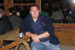 Relaxing with a beer after enjoying the fantastic food that was cooked in the Hangi., Big Dog - March 2010