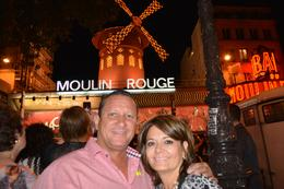 Alex and Marlene waiting in front of Moulin Rouge. Beautiful show! , Alex A - September 2013