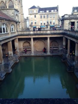Looking down into the Roman Bath , Mommy2hh - March 2015