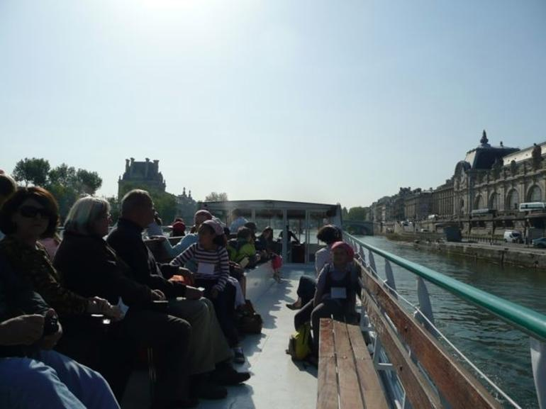 Boat Down Seine River - Paris