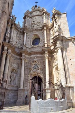 Photographed here is the exterior of the Valencia cathedral. , David Lally - May 2015