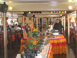 Sunset dinner cruise, Oahu - the buffet setup, Bandit - February 2011