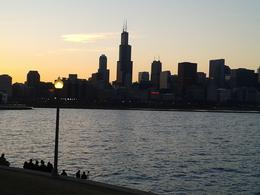 Photo of Chicago Chicago Segway Night Tour Chicago skyline in the setting sun