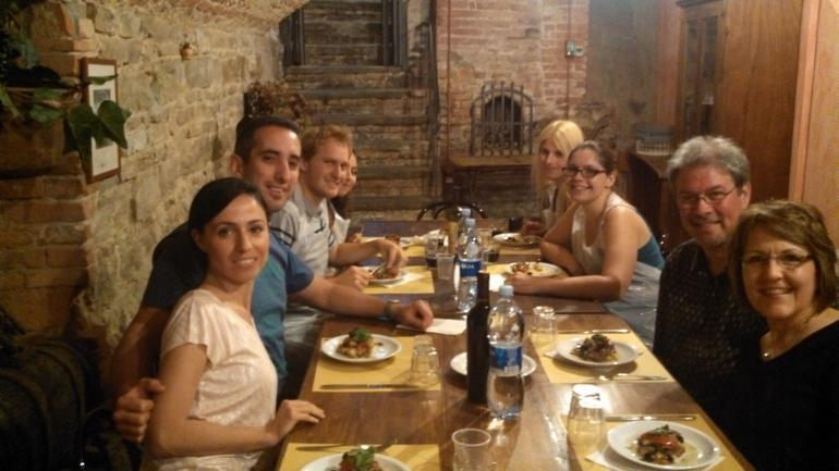 Eating at the Tuscan Cooking Class - Florence
