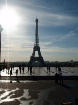 The the Eiffel Tower as seen from the top of the bus...great view. , Zenobia L - October 2012