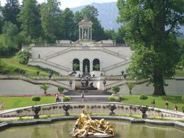 Photo of Munich Royal Castles of Neuschwanstein and Linderhof Day Tour from Munich Fountain in front of Linderhof