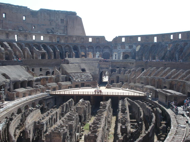 Inside of the Coliseum - Rome