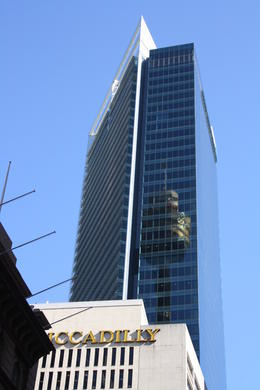 Photo of Sydney Sydney Tower Restaurant Buffet Reflection of the Westfield tower.