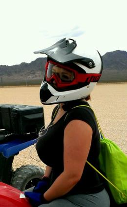 Photo of Las Vegas Hidden Valley ATV Half-Day Tour from Las Vegas Smile for the camera