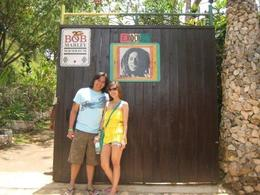 In front of the gate leading to Bob Marley's Mausoleum. - July 2009