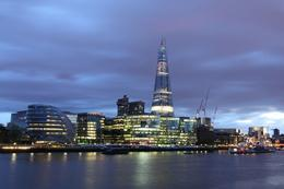 A view of the London Shard at night. - July 2012