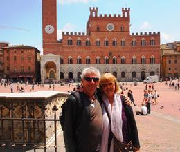 Mark and Suzan enjoying Siena , Suzan - June 2012