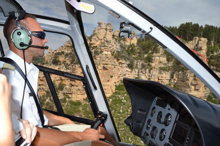 View from inside the helicopter - Grand Canyon National Park