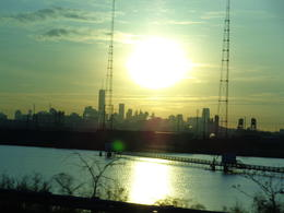 Photo of New York City Washington DC Day Trip from New York Vista do ônibus de Manhattan ao amanhecer