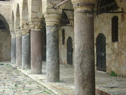 Photo of   Akko courtyard - the pillars recycled from Caesarea