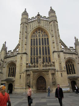 The Abbey in Bath stands majestically, as lovely inside as it is ornate on the outside. , Rita J - August 2011