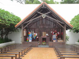 The rebuilt chapel at Changi Museum commemorating the POW's of WWII , foxylady - November 2011