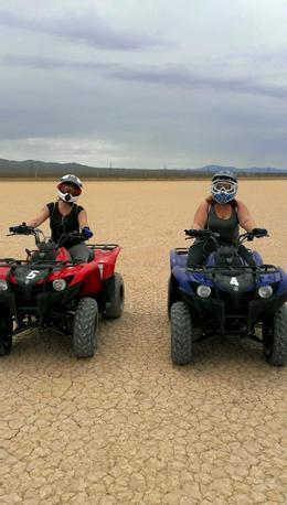 Photo of Las Vegas Hidden Valley ATV Half-Day Tour from Las Vegas Cruising on the dry lake bed