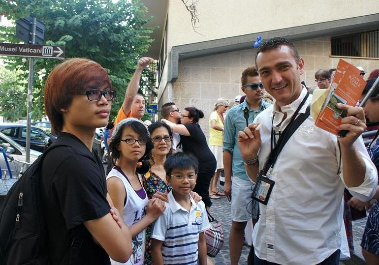 Igor the Knowledgeable Tour Guide with my kids. - Rome