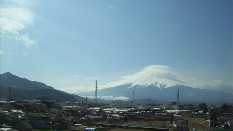 Mt. Fuji from bus - Tokyo