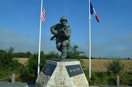 Dick Winters Monument--Normandy Battlefields American Sites Tour , Elizabeth W - October 2014