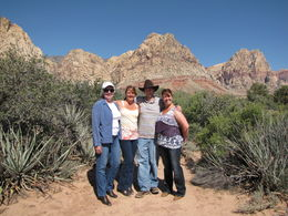 Our tour guide, James, with us in front of gorgeous Red Rock Canyon. Nature at its finest. , JACQUELINE M - May 2015