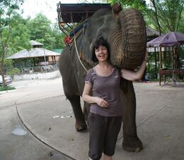 Photo of Bangkok Khao Yai National Park and Elephant Ride Day Trip from Bangkok Pom Pam after her dinner of bananas