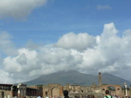 View of Vesuvius from Pompeii. , Pamela P - September 2013