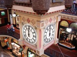 Huge Clock in the middle building - viewed from the upper level, John C - October 2010