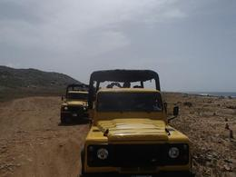 Photo of Aruba Natural Pool Jeep Adventure the jeeps following us