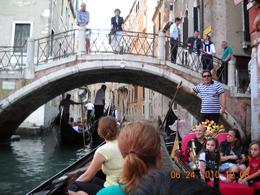 Photo of Venice Venice Gondola Ride and Serenade with Dinner Tight squeeze