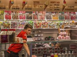 Wandering in Tivoli Gardens, we came upon this candy store. , steven r - July 2013